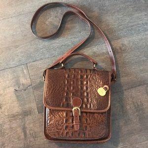 Vintage cognac Brahmin shoulder/ crossbody bag